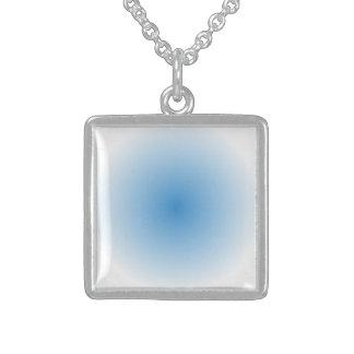 Collier En Argent Gradient de radial de ciel bleu