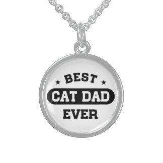 Collier En Argent Le meilleur papa de chat jamais