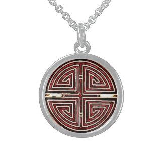 Collier En Argent Symbole chinois de longévité