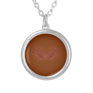 Collier Ethno brun de mandalas de conception