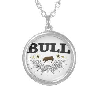 Collier étiquette brun de taureau