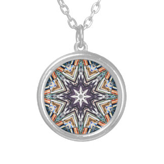 Collier Étoile texturisée colorée