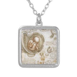 Collier Études de Leonardo da Vinci du foetus dans