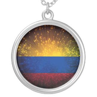 Collier Feu d'artifice de drapeau de la Colombie