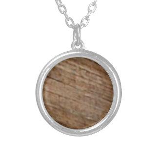 Collier fibre en bois oblique