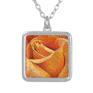 Collier Fin florale rose de fleur de l'anglais macro vers