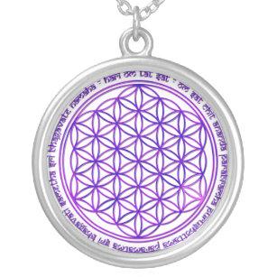 Collier Fleur de la vie - incantation de Moola - violette