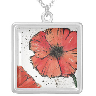 Collier Fleur sur un arrière - plan blanc