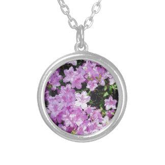 Collier Fleurs asiatiques violettes