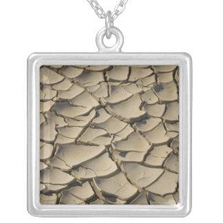 Collier Formation criquée de boue dans le plancher de