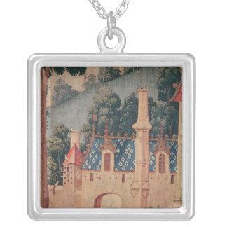 Collier Fragment d'une tapisserie médiévale