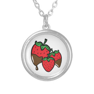 Collier Fraises d'immersion de chocolat