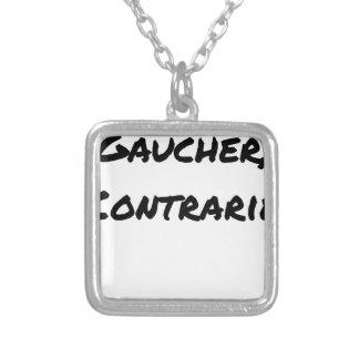 Collier GAUCHER, CONTRARIÉ - Jeux de mots - Francois Ville