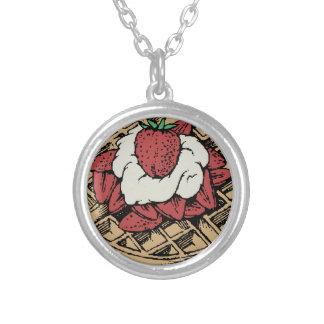 Collier Gaufres belges avec des fraises
