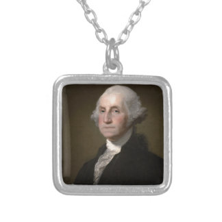 Collier George Washington - portrait vintage d'art
