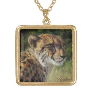 Collier Goldtone carré de guépard