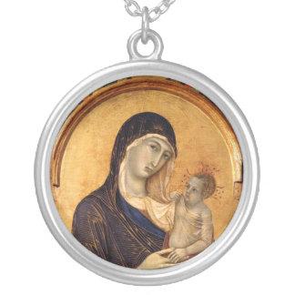 Collier gothique de Madonna et d'enfant