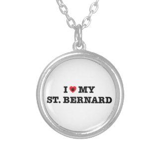 Collier I coeur mon St Bernard