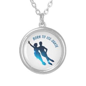 Collier Danse sur glace bleu Born to ice skate