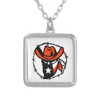 Collier Icône de fil de Barb de drapeau du Texas proscrite