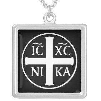 Collier Icône religieuse chrétienne ICX NIKA orthodoxe