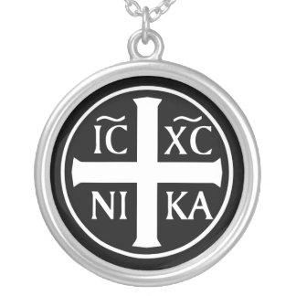 Collier Icône religieuse orthodoxe ICXC NIKA Christogram
