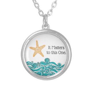 Collier Il importe à cette une étoile de mer