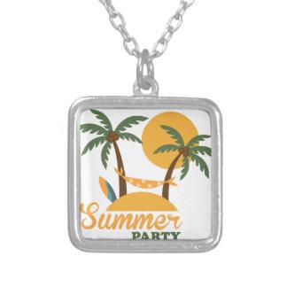 Collier Île tropicale de vacances de vacances d'été avec