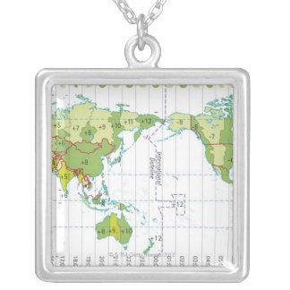 Collier Illustration de Digitals de carte du monde