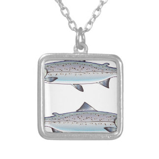 Collier Illustration de poissons d'océan de saumon