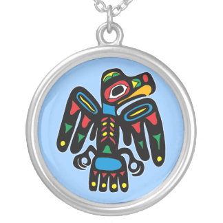 Collier Indien Native American corbeaux raven