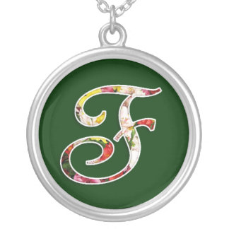 Collier initial de monogramme de F