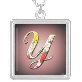 Collier initial de monogramme de Y