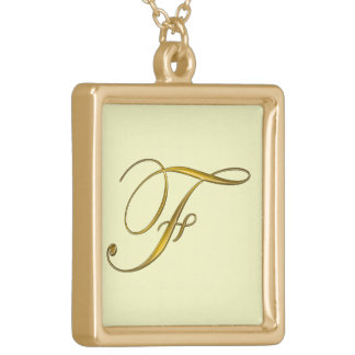 Collier initial des monogrammes F d'or