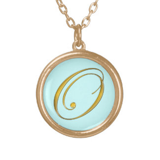 Collier initial du monogramme O d'or