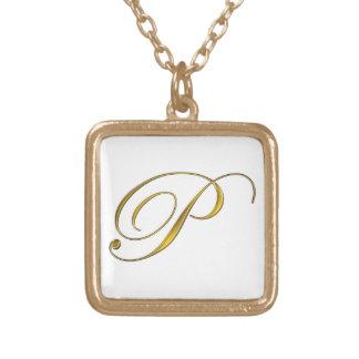 Collier initial du monogramme P d'or