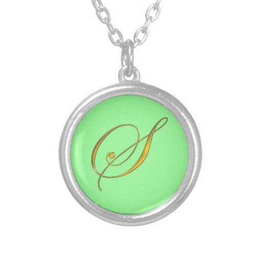 Collier initial du monogramme S d'or