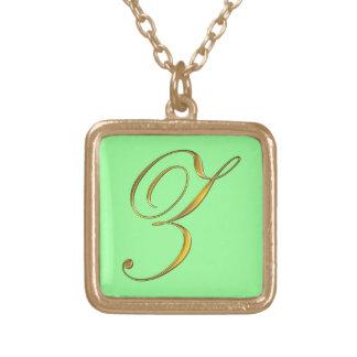 Collier initial du monogramme Z d'or