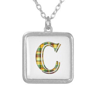 Collier Initiale de plaid de C