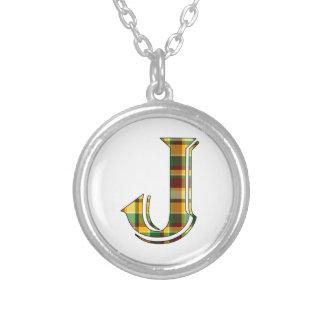 Collier Initiale de plaid de J