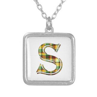 Collier Initiale de plaid de S