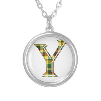 Collier Initiale de plaid de Y
