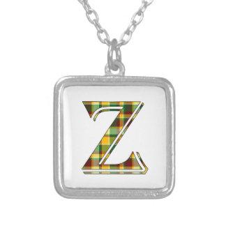 Collier Initiale de plaid de Z