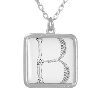 Collier Initiale d'os de la lettre B