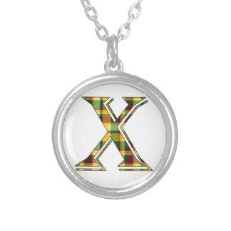 Collier Initiale du plaid X