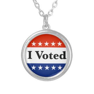Collier J'ai voté 2018 élections