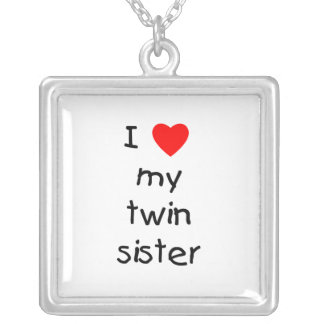 Collier J'aime ma soeur jumelle