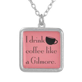 Collier je bois du café comme un gilmore