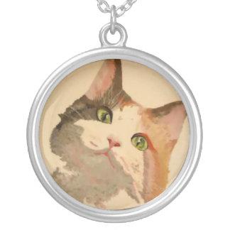 Collier Je suis toutes les oreilles : Portrait de chat de