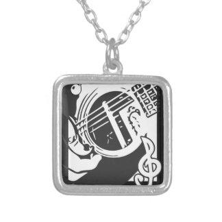 Collier Jeu de guitare de mélomane noir et blanc